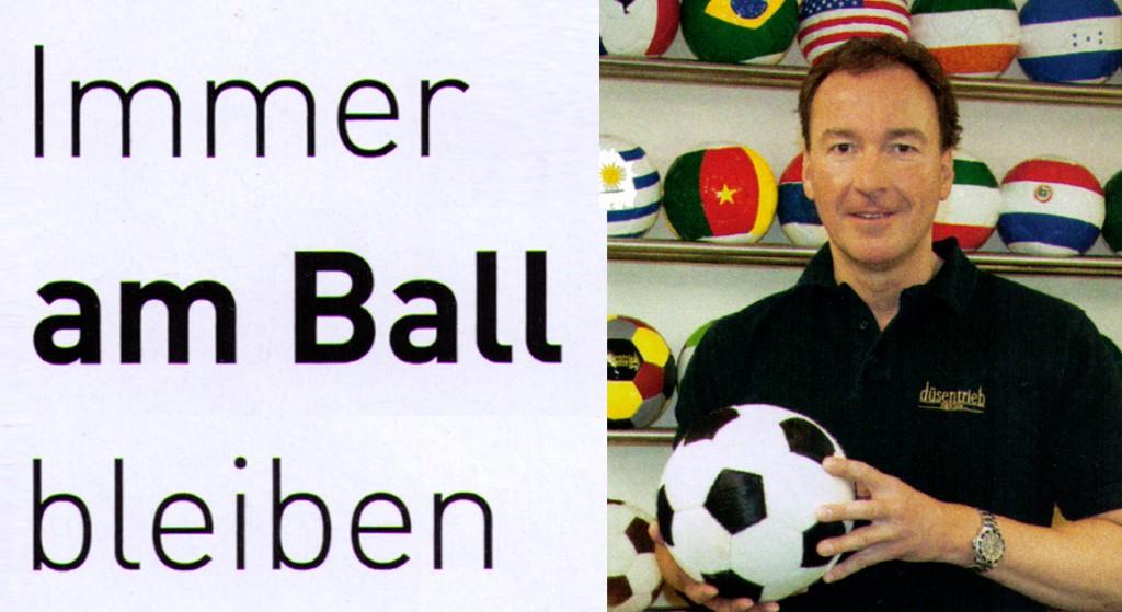 Immer am Ball bleiben TOP Magazin-Titel