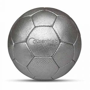 Werbeball Aluminiumwerke Designball Schlange silber