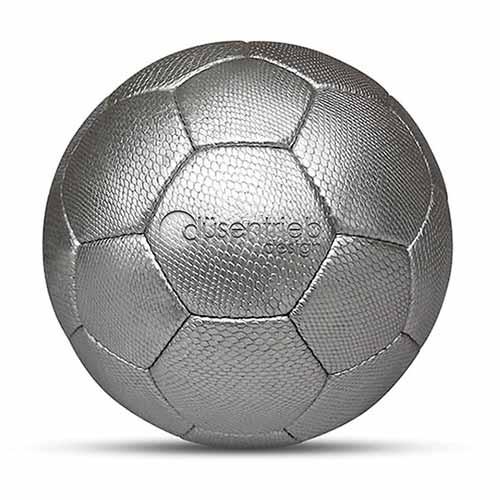 Duesentrieb Designball/Fußball Schlangenmuster Silber