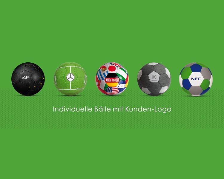 Werbebälle individuelle Bälle mit Kunden-Logo