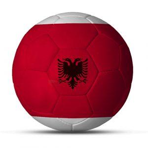Länderball Albanien bedruckter Flaggenball mit Logo