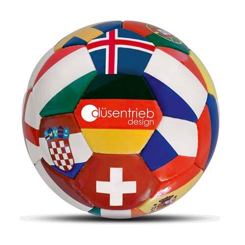 Länderball EM 2016 mit bedrucktem Logo