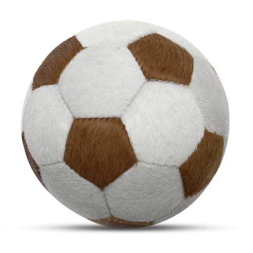 Duesentrieb Designball/Fußball Fell gescheckt Braun Muster