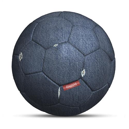 Werbeball Textilhersteller Fußball in Jeansoptik