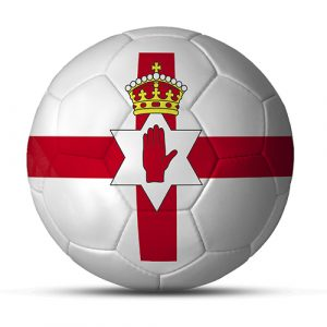 Länderball Nordirland Fußball Logo
