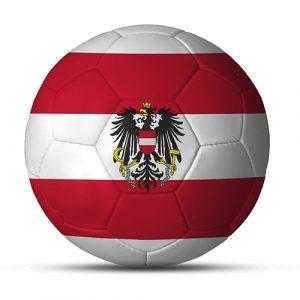 Länderball Österreich Flaggen Fußball mit Logo