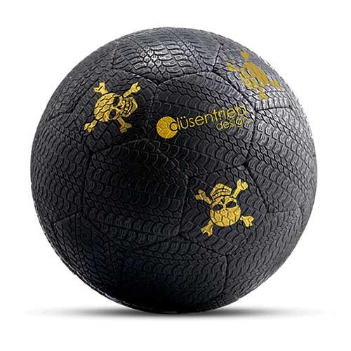 Designball Reifenprofil schwarz gold