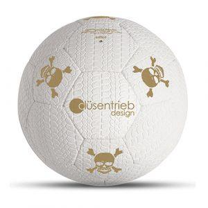 Designball Reifenprofil weiß gold