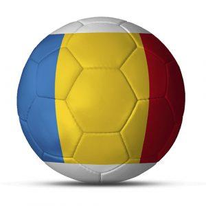Länderball Rumänien dreifarbiger Fußball blau gelb rot