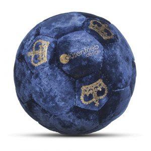 Designball Samt blau König