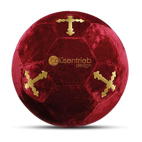 Duesentrieb Designball/Fußball Samt Rot