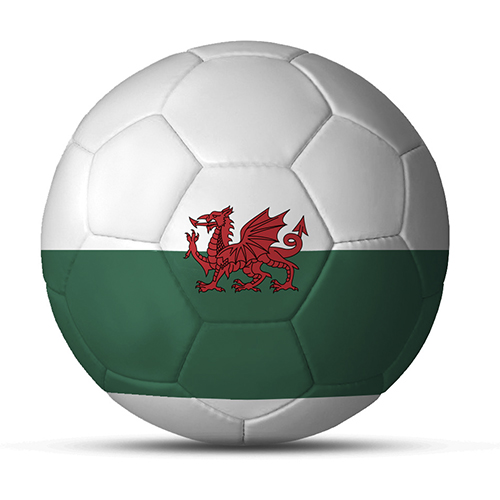 Länderball Wales zweifarbiger Flaggenball