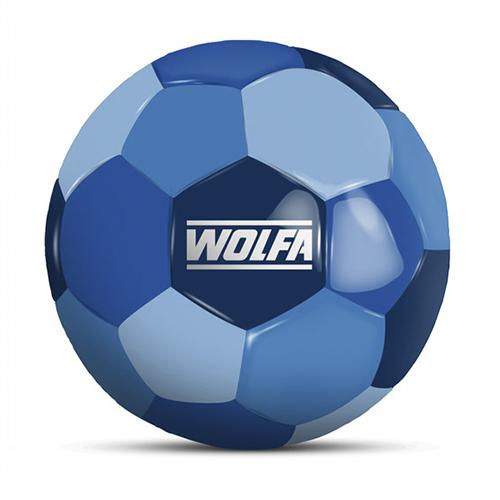 Werbeball Wolfa GmbH & Co. KG vierfarbiger Fußball