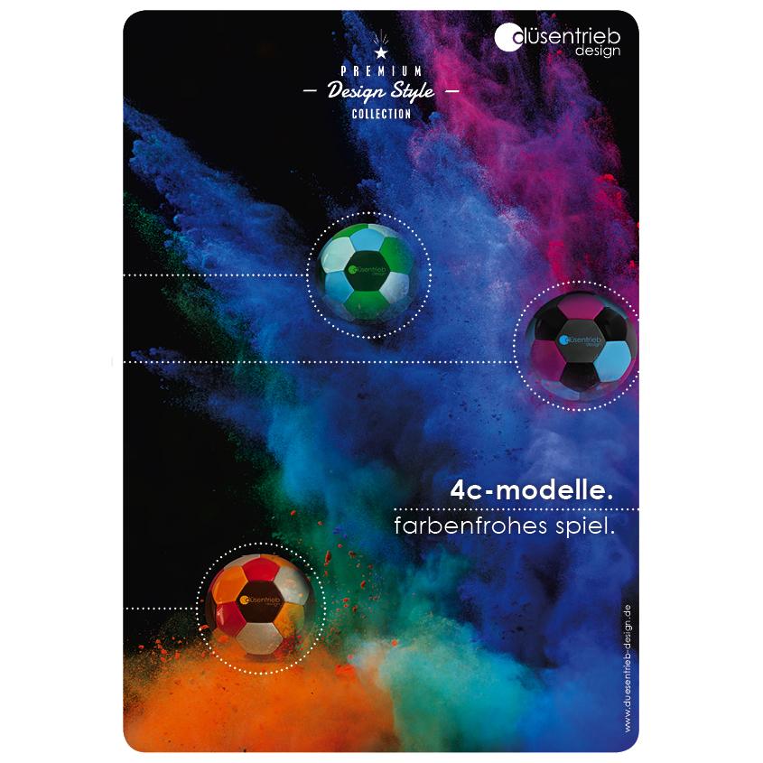 Plakat 4c-Modelle farbenfrohes Spiel Designbälle in vier Farben