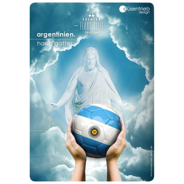 Plakate, Plakat Argentinien die Hand Gottes
