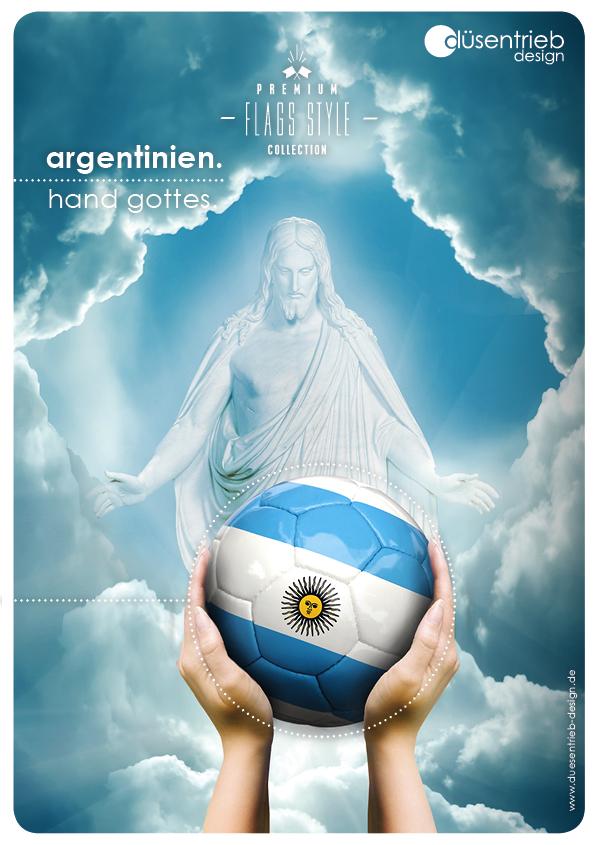 Plakat Argentinien Die Hand Gottes