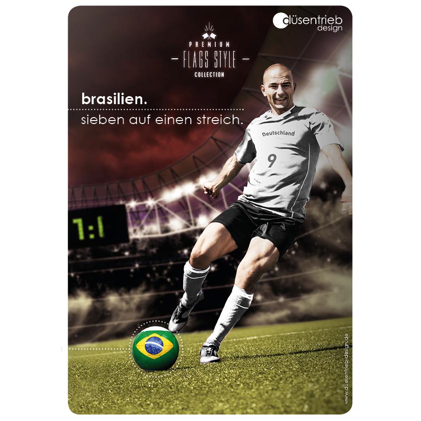 Plakat Brasilien Sieben auf einen Streich