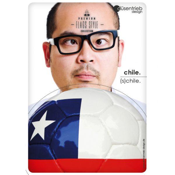 Plakat Chile S(chile) Schilender Mann