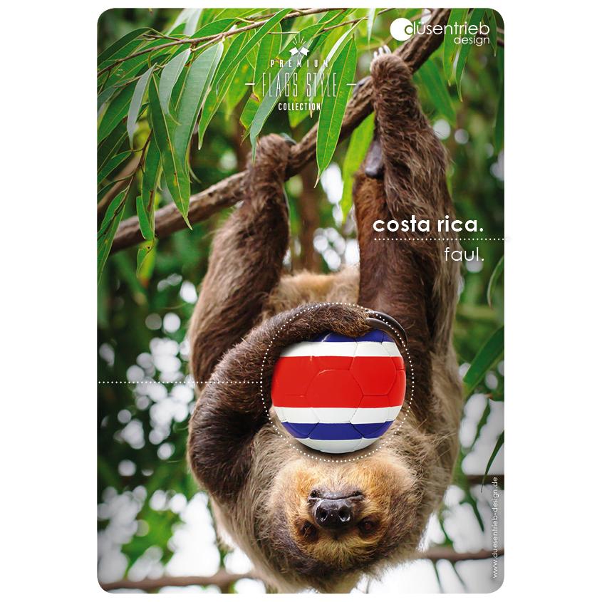 Plakat Costa Rica Faultier