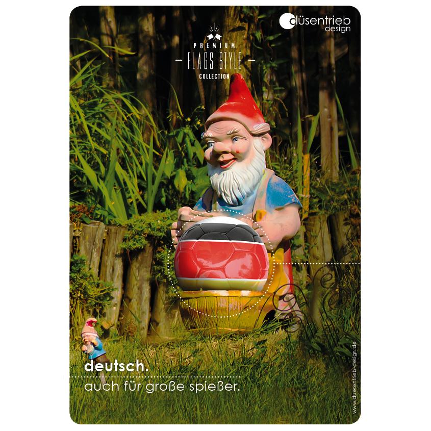 Plakat Deutschland auch für große Spießer Gartenzwerg