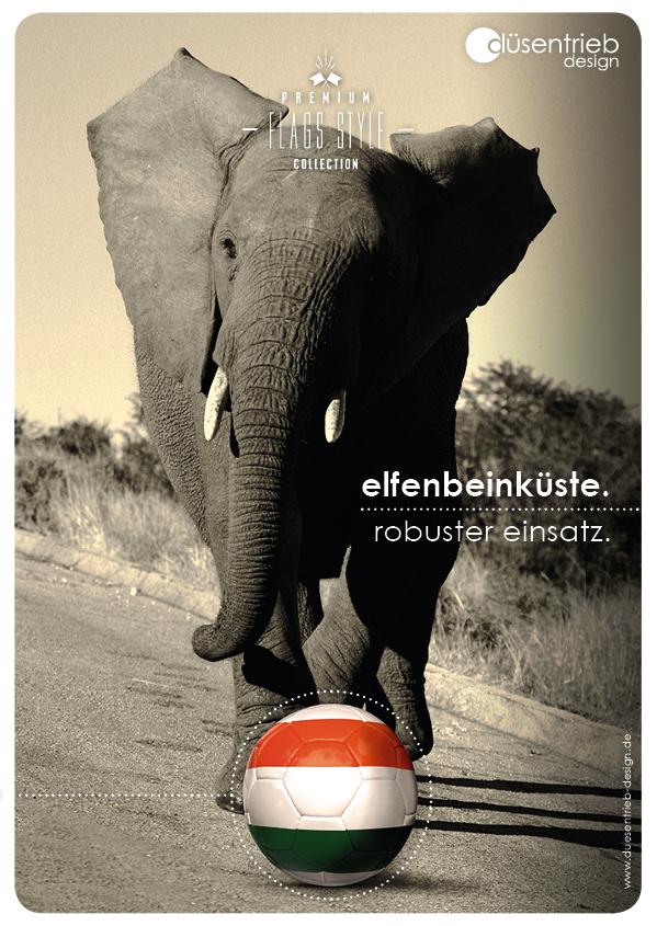 Plakat Elfenbeinküste robuster Einsatz