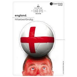 Plakat England hitzebeständig Mann mit rotem Kopf
