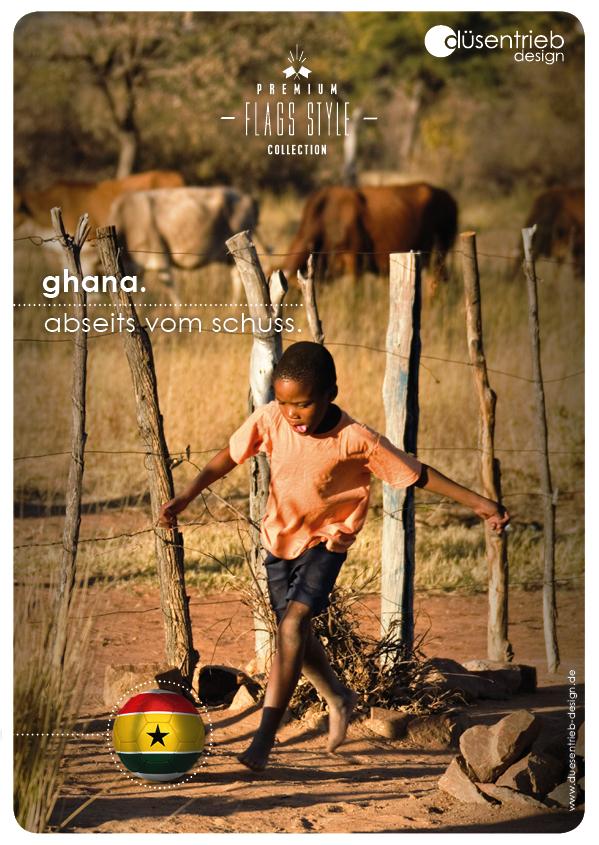 Plakat Ghana Abseits vom Schuss Kind in Afrika