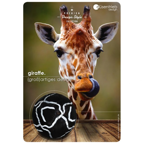 Plakat Giraffe (groß)artiges Design Fellball in Giraffenoptik