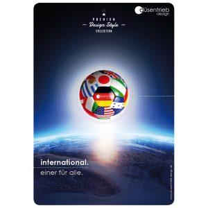 Plakat International einer für alle EM-Fußball über Welt