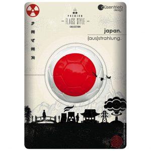 Plakat Japan (aus)strahlung Fußball in radioaktivem Umfeld