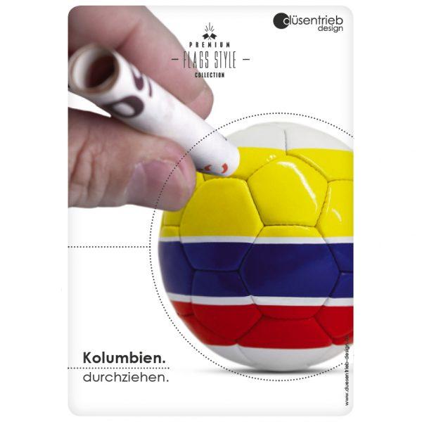 Plakat Kolumbien durchziehen Länderfußball