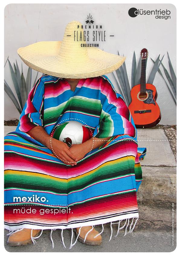 Plakat Mexiko müde gespielt Mexikaner mit Sombrero und Ball
