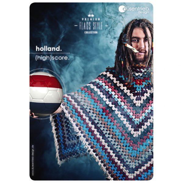 Plakat Niederlande (High)score Rauchender Mann mit Fußball