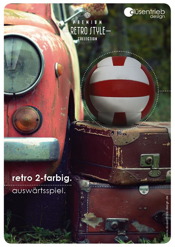 Plakat Retro auswärtsspiel Fußball Retro 2-farbig neber Oldtimer