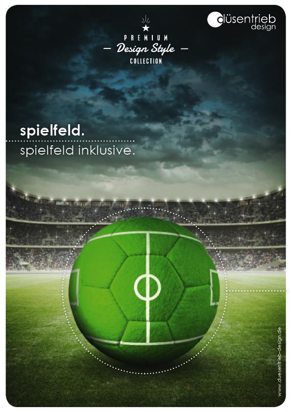 Plakat Spielfeld Inklusive Designball in Stadion