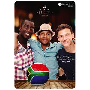 Plakat Südafrika Respekt Zusammenhalt Länderball