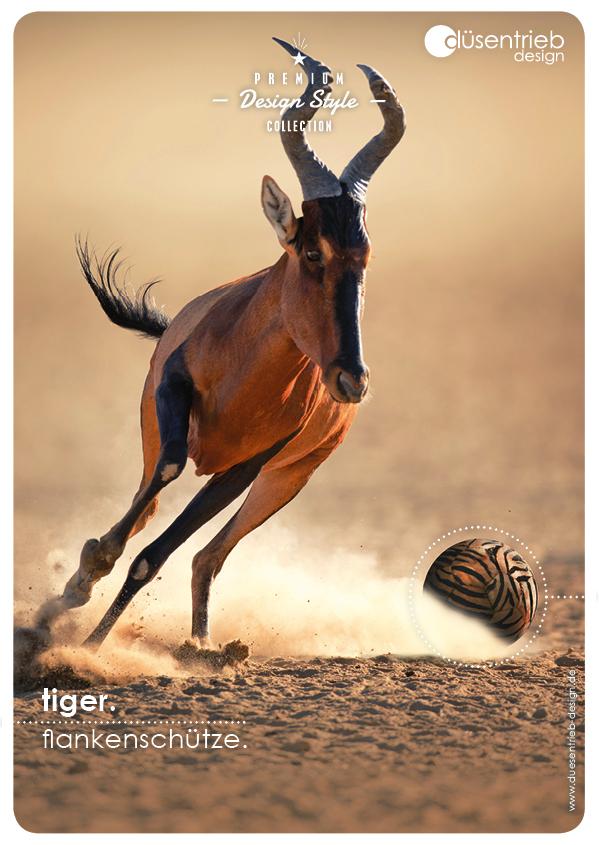 Plakat Tiger Flankenschütze