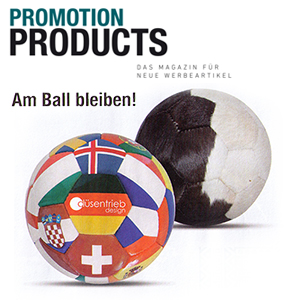 Am Ball bleiben Promotion Products Magazin