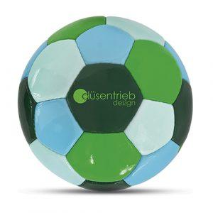Designball vierfarbig dunkelgrün türkis hellblau hellgrün