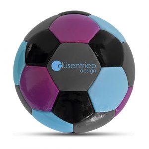 Designball vierfarbig lila türkis schwarz grau